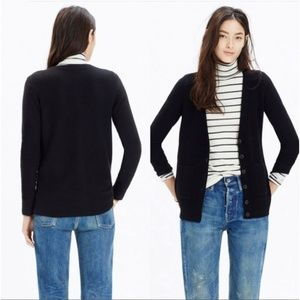 Madwell black university cardigan sweater XS